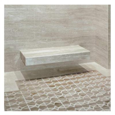 panca bagno in sauna in marmo massello