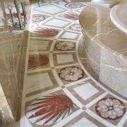 Bagno Queen Vittoria Marmo Alpenina Bianco Michelangelo Rosa Portogallo Rosso Francia
