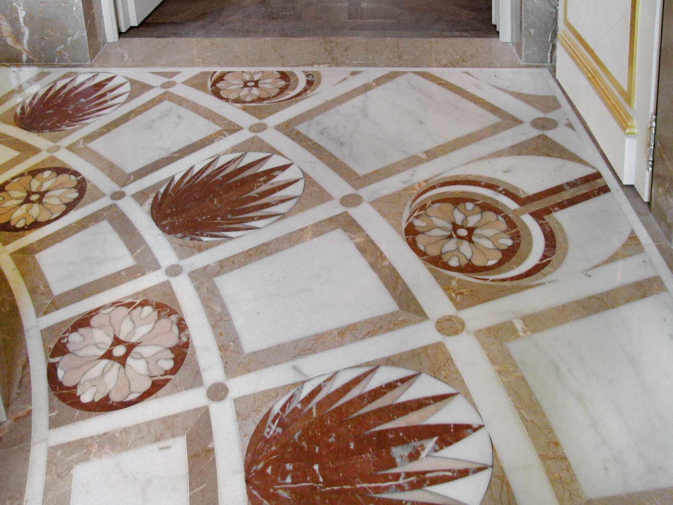 Intarsio Marmo per pavimenti, pavimenti in marmo