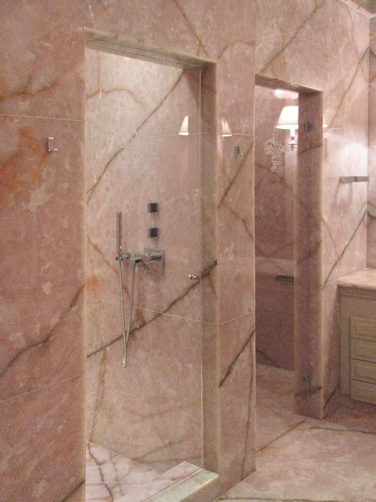 Rivestimenti Bagno Onice : Bagno coco chanel sala da realizzata in onice rosa