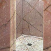 Rivestimento pareti doccia bagno in onice rosa