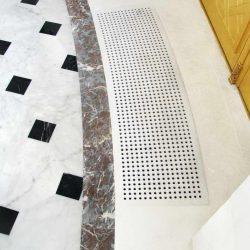 pavimento in marmo nero e marmo bianco - decorazioni in marmo