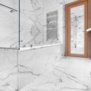Calacatta Carrara marble bathroom