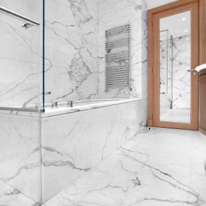 Calacatta Carrara marble bathroom